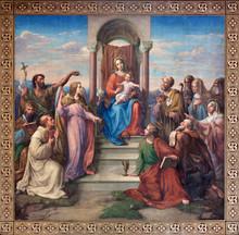 """Vienne - Fresque de """"Notre-Dame de Vienne"""""""
