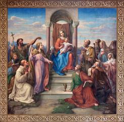 """Vienna - Fresco of """"Madonna of Vienna"""""""