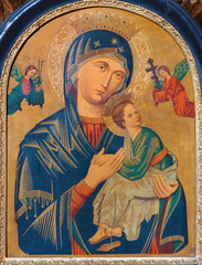 Vienna -  Madonna paint from church Maria Treu