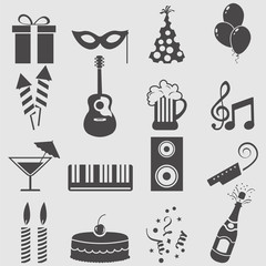 Party icons set.Vector