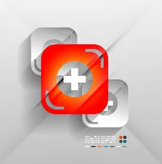 First aid vector modern 3d paper design