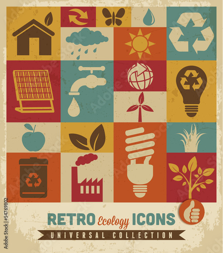 Eco icons set.Vector