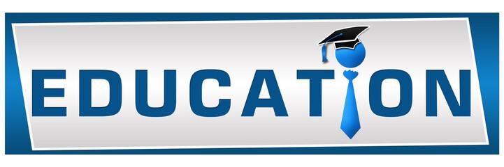 Education Blue Banner