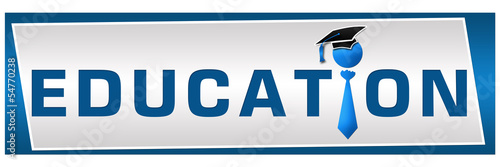 Education Blue Banner