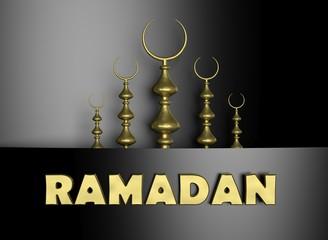Ramadan background with Half moon symbol