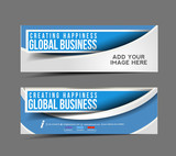 set of business banner, header vector design.