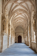 Toledo - Gothic atrium of Monasterio San Juan de los Reyes