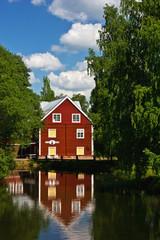 Haus am Motala-Fluss in Borensberg