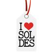 """Anhänger mit Text """" I LOVE SALES """""""