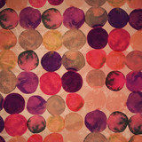 Watercolor original backdrop. Retro hand drawn circles ornament.