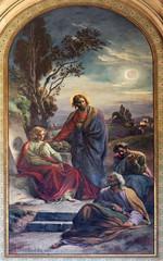 Vienna -  Jesus and apostle in Gethsemane garden