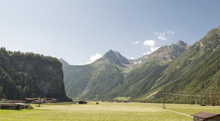 Ötztal imTirol, Dorf Längenfeld und Sölden, Österreich