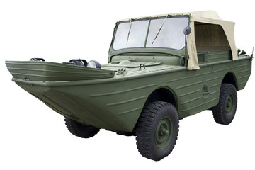old amphibious vehicle