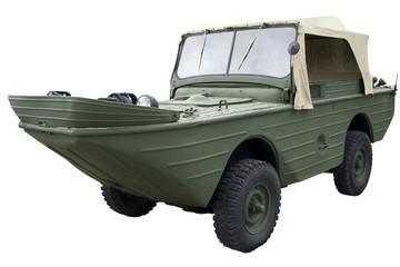 old amphibious vehicle