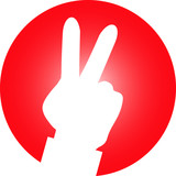 Peace Hand Icon rot