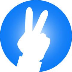 zwei Finger Hand Logo Peace Frieden