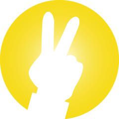 Hand Zeichen retro design Logo