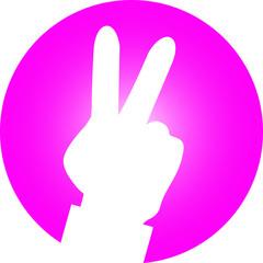 menschliche Hand Peace Zeichen