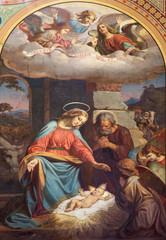 Vienna - Fresco of Nativity in Altlerchenfelder church