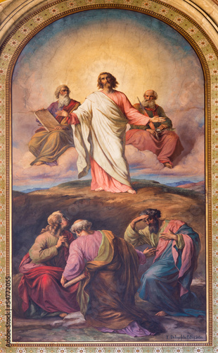 Vienna - Fresco of Transfiguration of the Lord