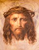 Vienna - Fresco of Jesus Christ in Altlerchenfelder church