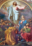 Vienna -  Fresco of Ascension of the Lord