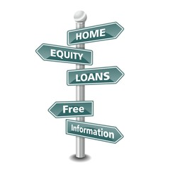 home equity loan icon as signpost - NEW TOP TREND