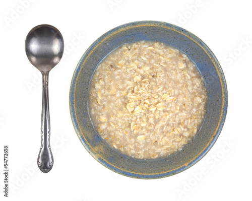 Oatmeal with spoon