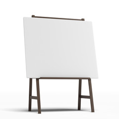 Easel with a blank sheet of white paper