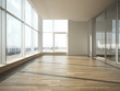 office interior with glass wall - 54774826