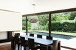 Modern villa, interior, beautiful dining room