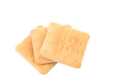 Several saltine soda crackers.
