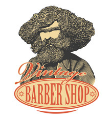 Vintage barber shop logo