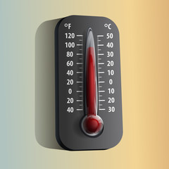 Thermometer. Vector illustration