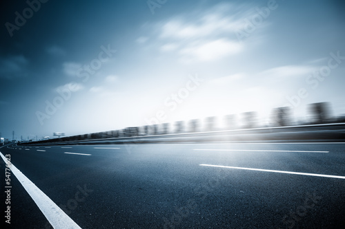 Poster traffic of road