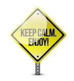 keep calm and enjoy. illustration design poster