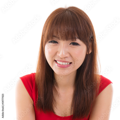 Close up portrait headshot of Asian woman