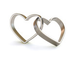 Platinum/Silver heart ring