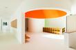 new architecture, interior, modern school