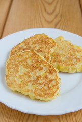 Fritters with sweet corn