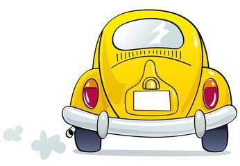 funny yellow beetle