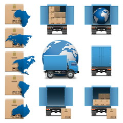 Vector shipment icons set 3