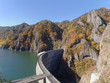 展望台から見た秋の豊平峡ダム