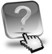 Button mit Fragezeichen mit Cursor
