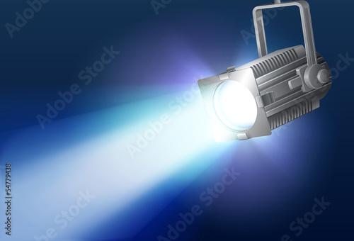 Deurstickers Licht, schaduw Spotlight