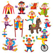 set of clowns in circus