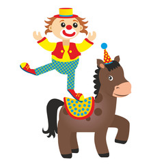 clown equestrian on horse