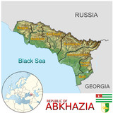 Abkhazia Asia national emblem map symbol location