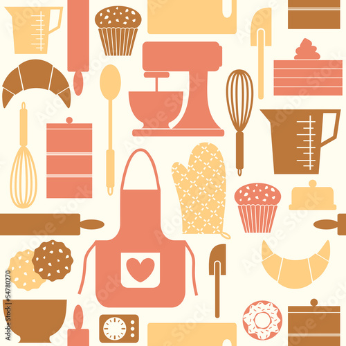 Retro Baking Background