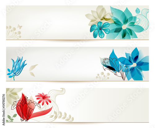 Beauty flower banners